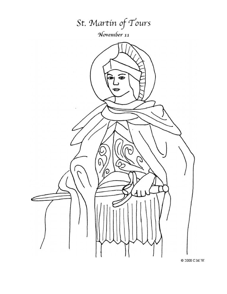 St Martin Of Tours Coloring Page C 2008 C M W All Coloring Pages
