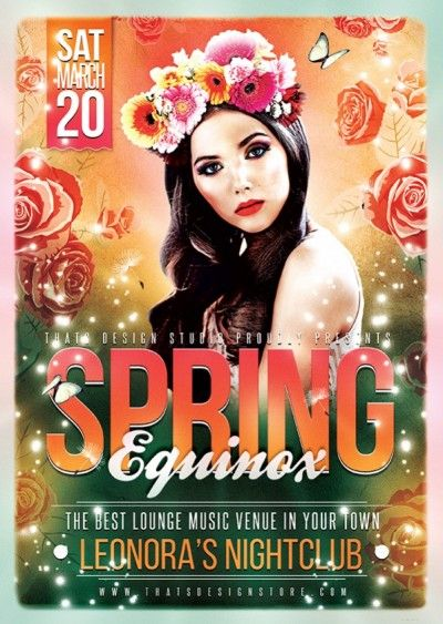 Green  Spring Party Flyer Template Psd V  Products Flyers And