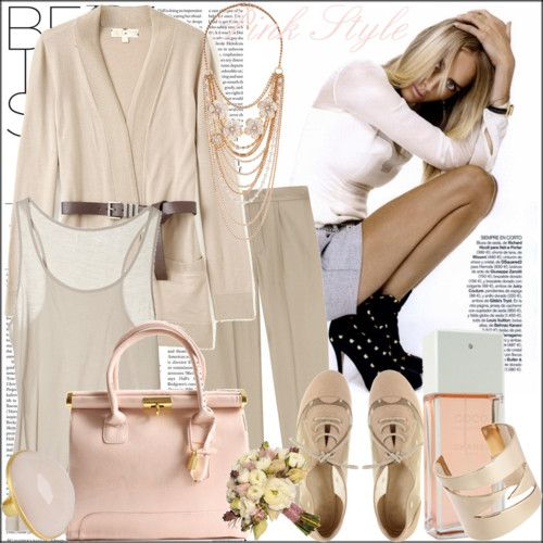 nude pinks and beige