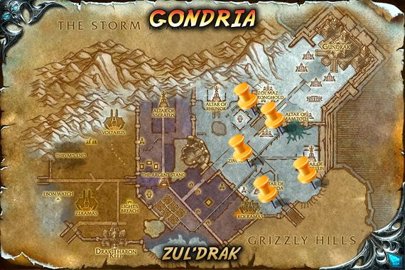 Gondria Map | Wow | Wow battle, World of warcraft, Heroes of