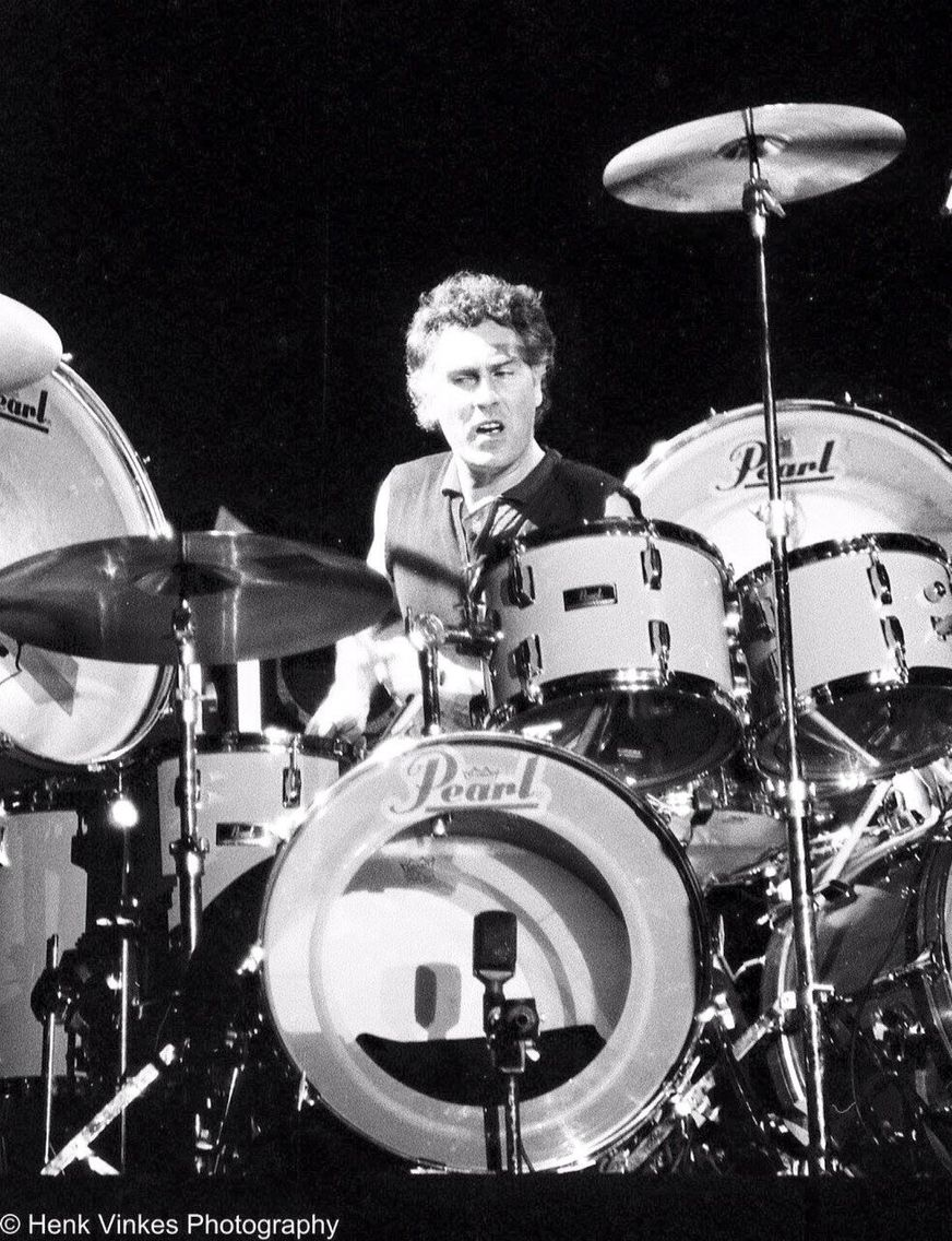 Cesar Zuiderwijk, Dutch drummer of Golden Earring ...
