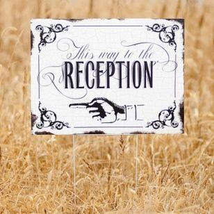 Vintage Reception Sign