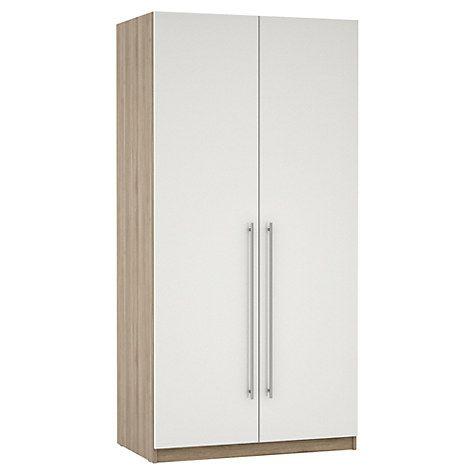 Double Wardrobe, White Gloss Bedroom Furniture Range