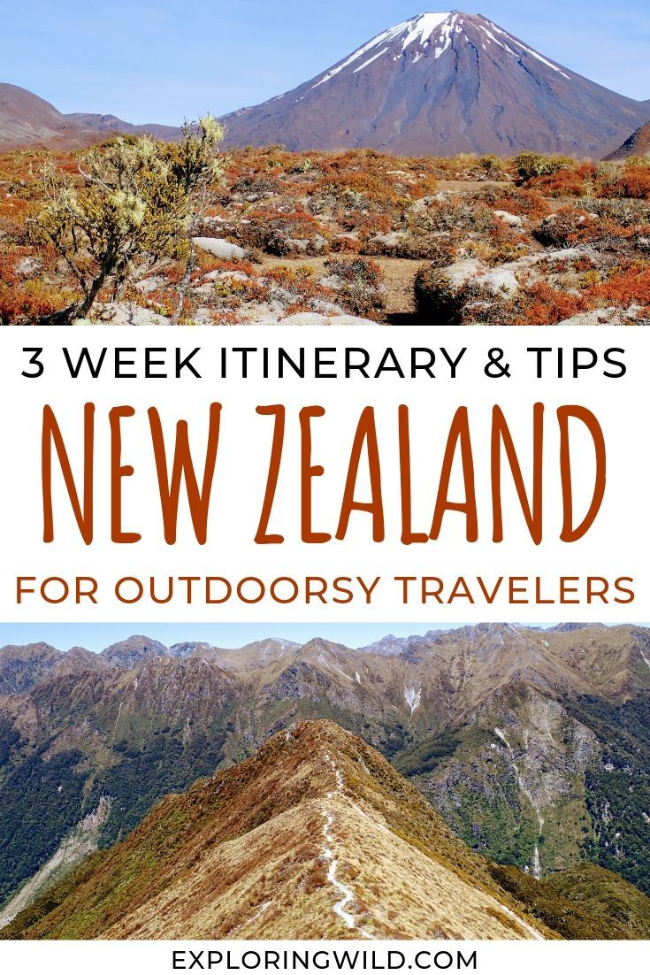 New Zealand: it's hard to imagine a better destination for outdoor adventure. This New Zealand itinerary packs it in with hiking, biking, canyoning, climbing, canoeing, and more. #newzealand #outdoors #adventuretravel #hiking #backpacking