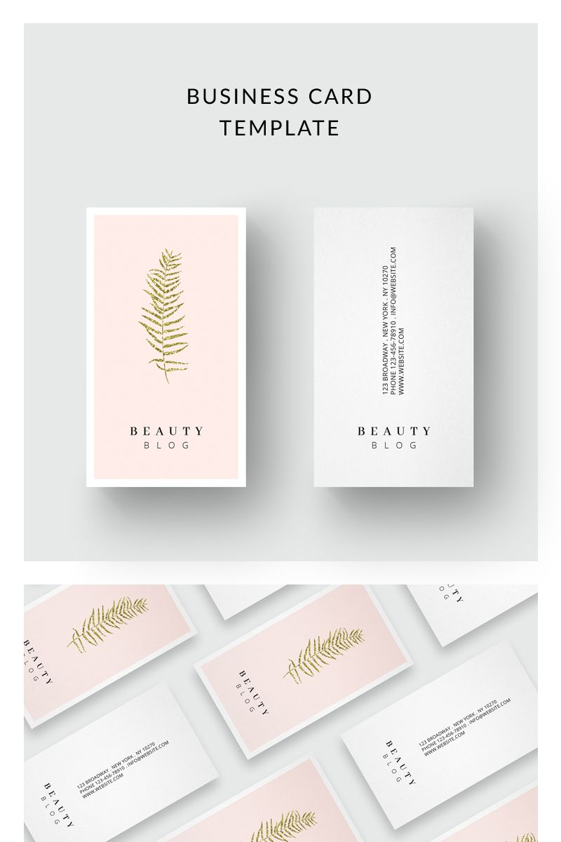 Business Card Golden Leaf Corporate Identity Template 75914