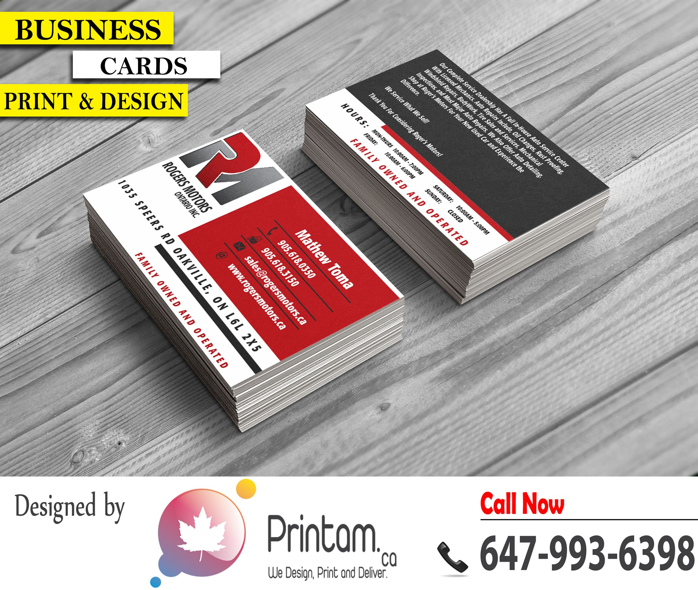 Printam Designs | Previous Client Business Card Designs | Pinterest