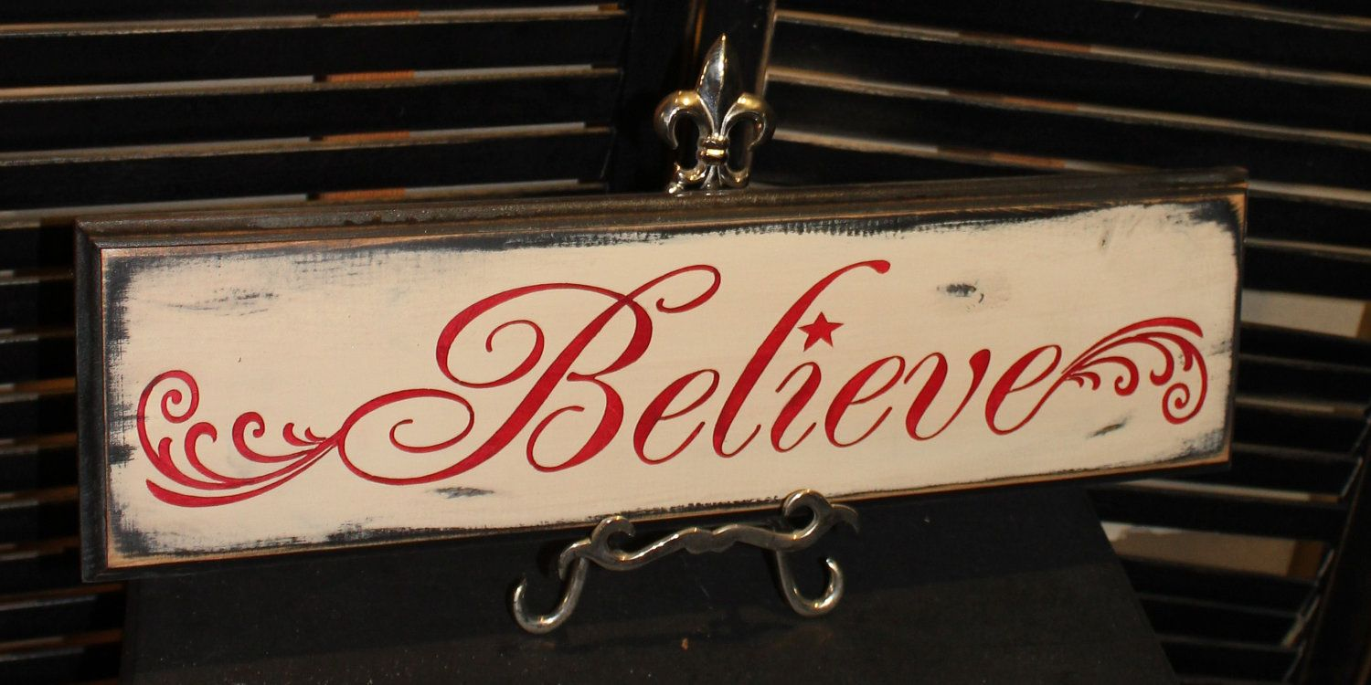 believe sign christmas signwood sign by thegingerbreadshoppe 2495