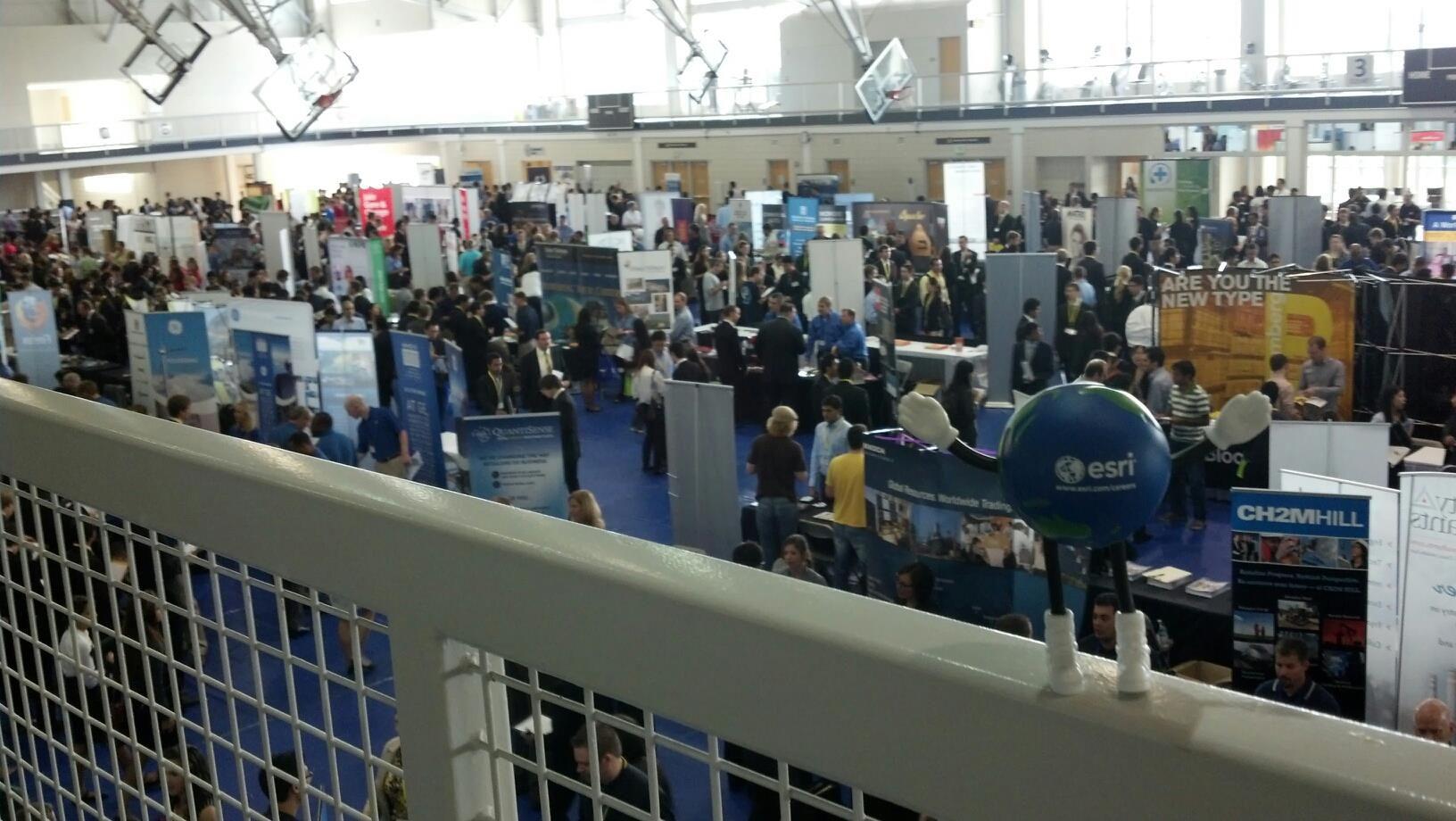 Esri recruiters at the Tech Fall Career Fair, in