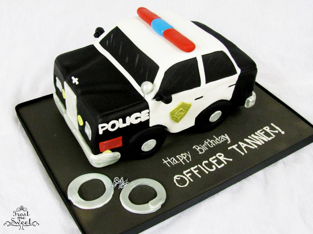 police officer car cake | FMS Cakes- Boys Cakes ...