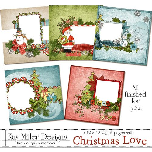 scrapbook pages christmas | christmas love 12x12 quick pages christmas love 12x12 quick pages