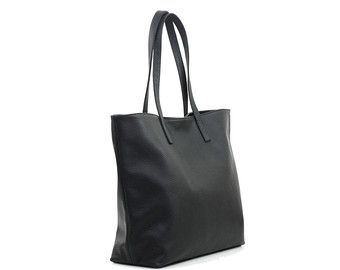 DOMI Top Zip Black Leather Tote Bag by MISHKAbags on Etsy   Bags ... 842f066acb