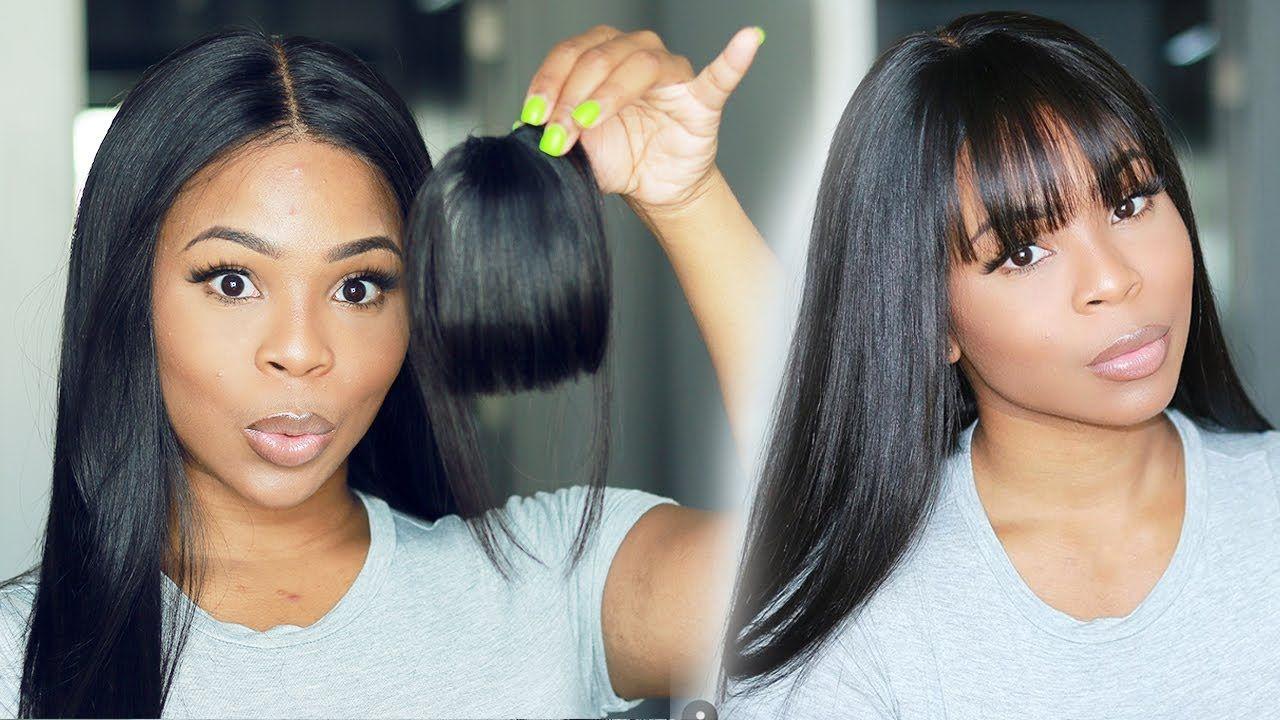 How to fake your bangs fake scalp method hair vivi