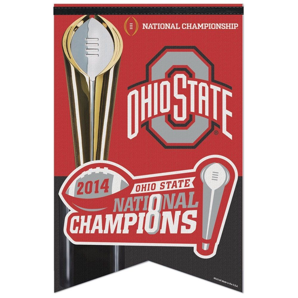 Ohio State Buckeyes Wincraft 2014 Football National Champions Red Felt Banner