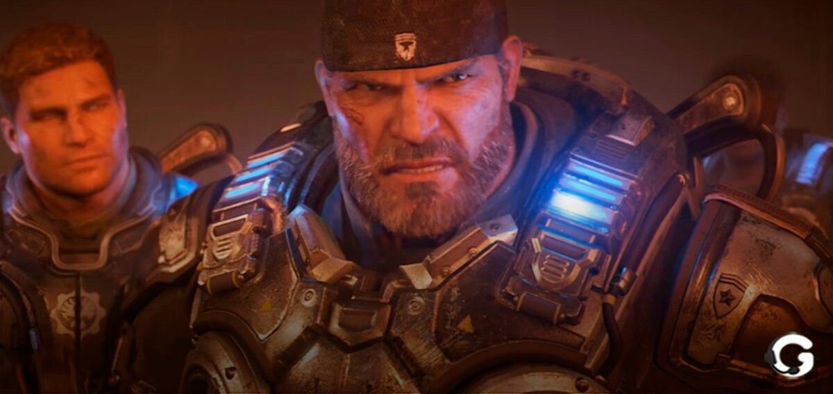 Gow4 Old Man Marcus Fenix And His Son Gears Of War War Gears