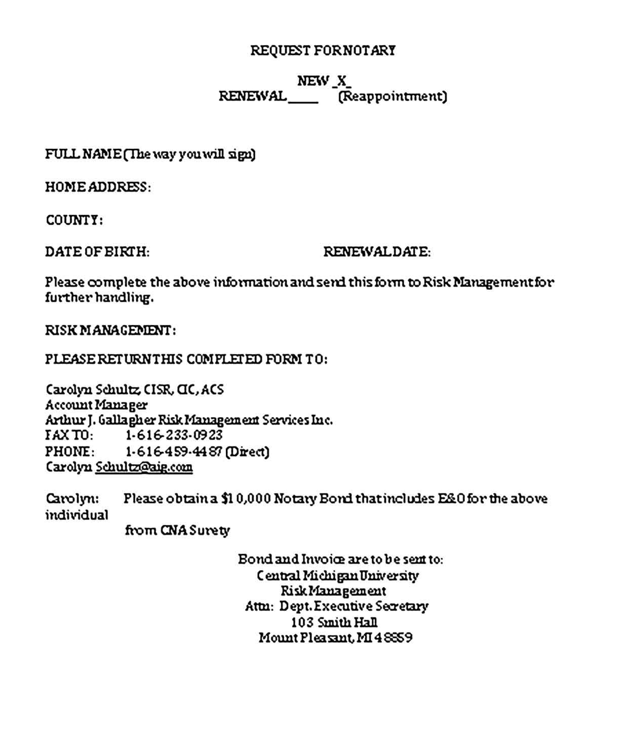 Notary Invoice Templates Sample Invoice Template Notary Business Template