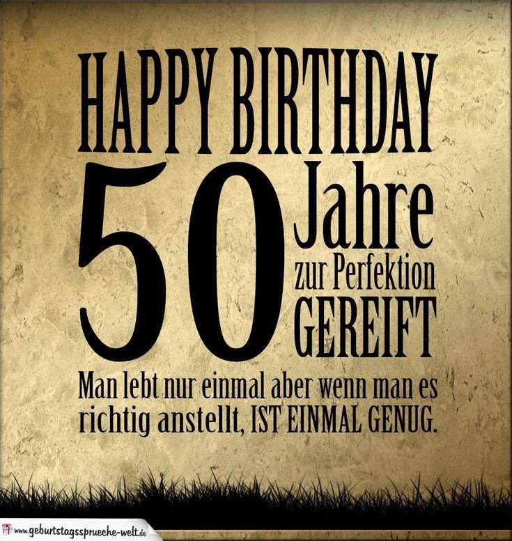50 Geburtstags Retro Geburtstags Karte Geburtstags Sprichwort