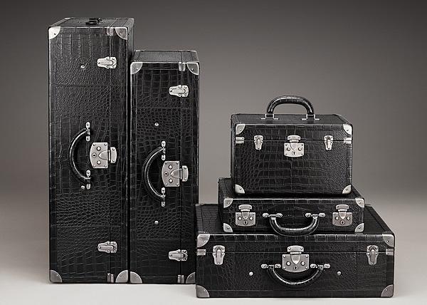 Bottega Veneta Men's alligator luggage set | bag lust | Pinterest ...
