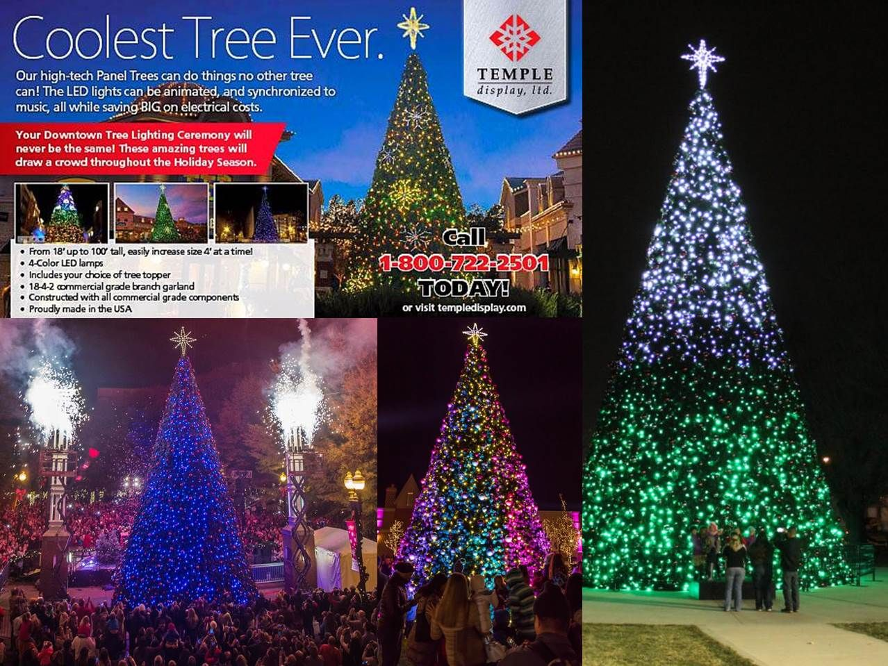 Commercial Christmas Trees Temple Display Commercial Christmas Decorations Animated Christmas Tree Cool Christmas Trees