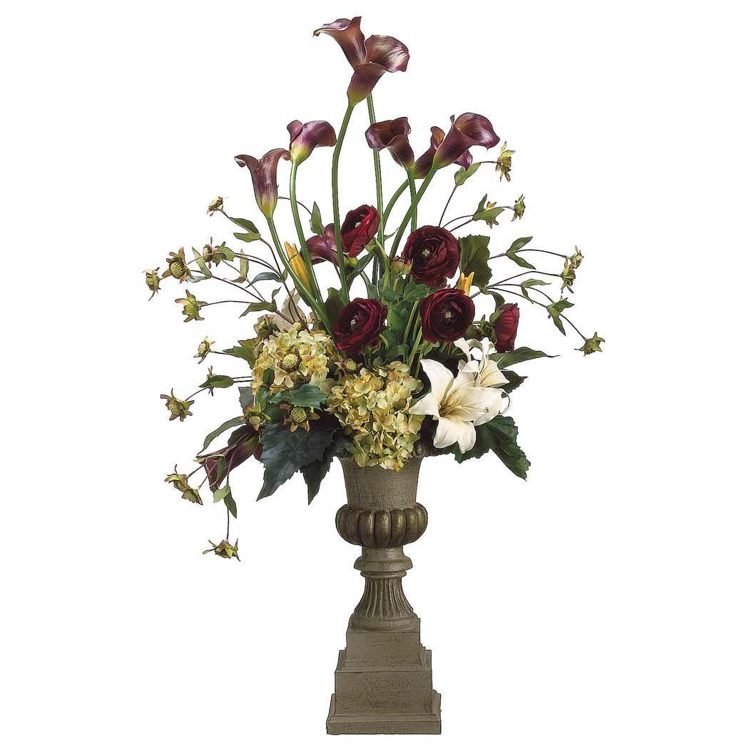 Flower Arrangement For Calla Lily Silk Calla Lily And Hydrangea