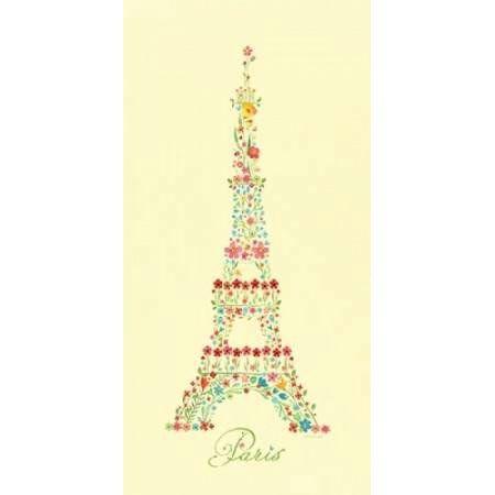 Eiffel Tower in Flowers II Canvas Art - Stephanie Marrott (24 x 48