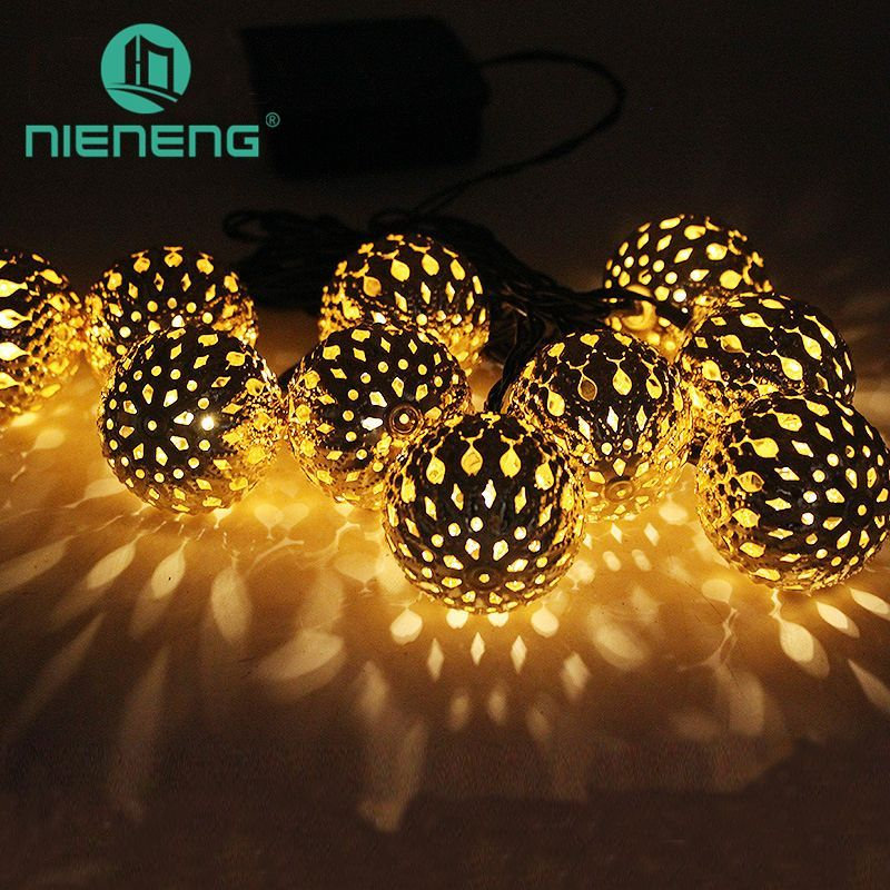 Nieneng solar lamps micro led bulb garden hanging lamp outdoor landscape color changing lights solar powered