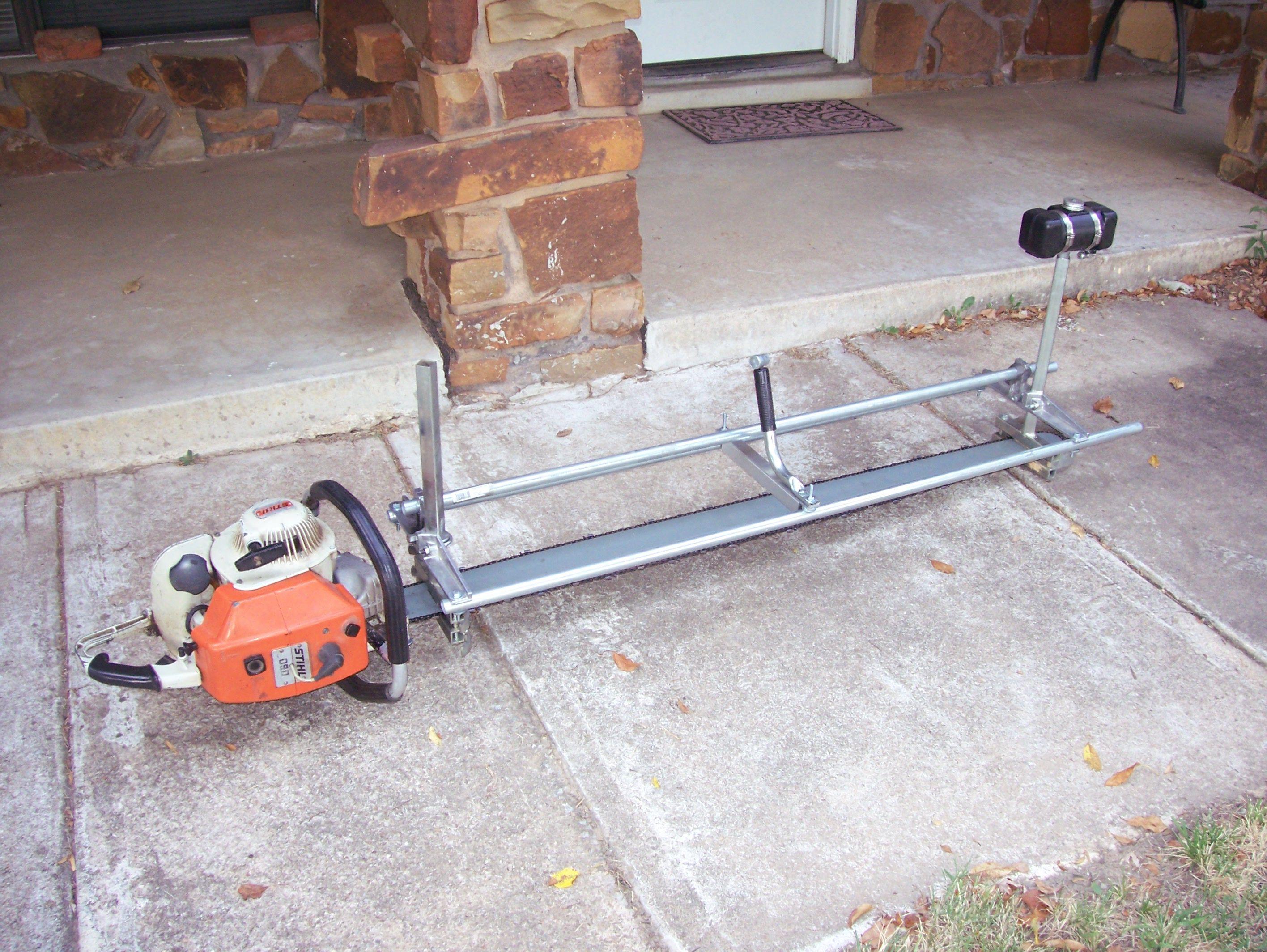 My Stihl 090 portable Sawmill - 090, modified GB Alaskan Chainsaw