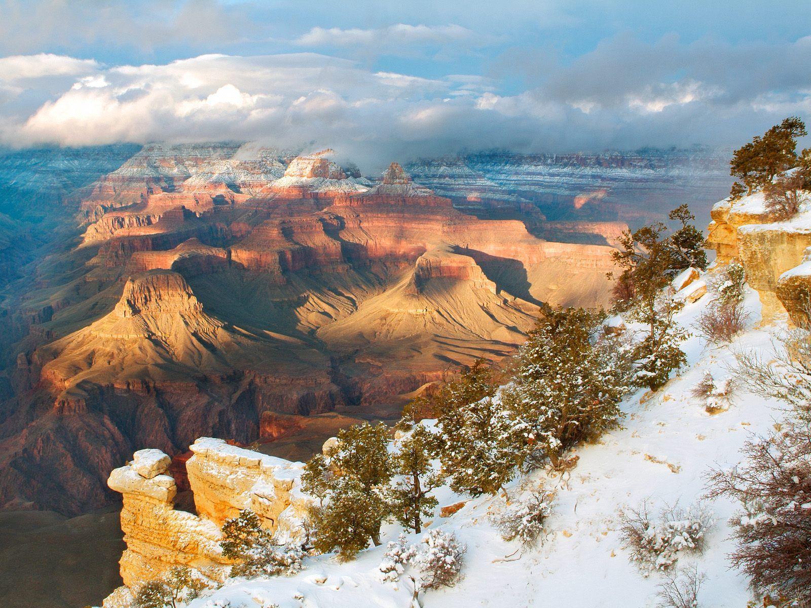 Mountains Clearing Winter Grand Canyon National Park Arizona