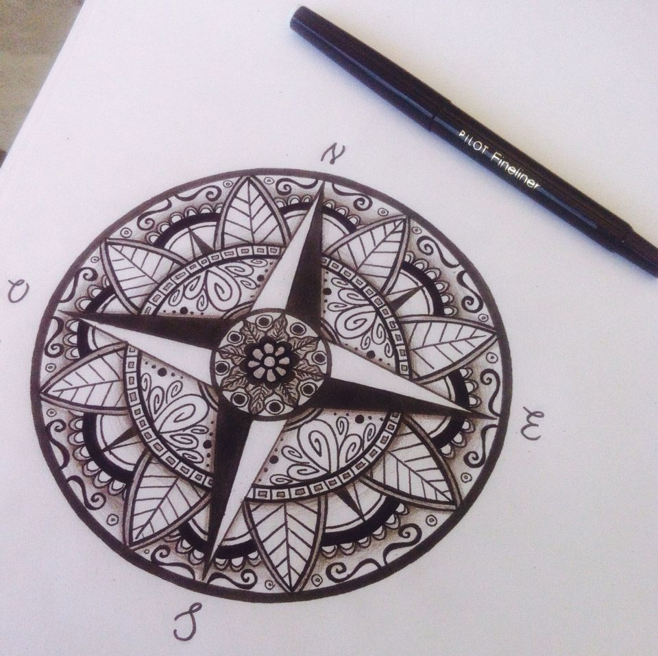 little update shades compass mandala tattoos. Black Bedroom Furniture Sets. Home Design Ideas