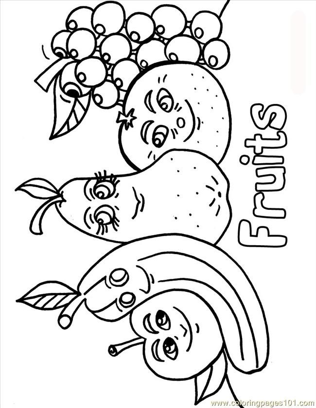 Vegdable Coloring Sheets Printable Coloring Page Fruits