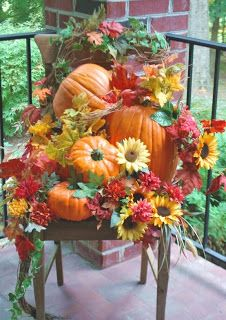 shelley b decor and more: Fall Porch Decorating