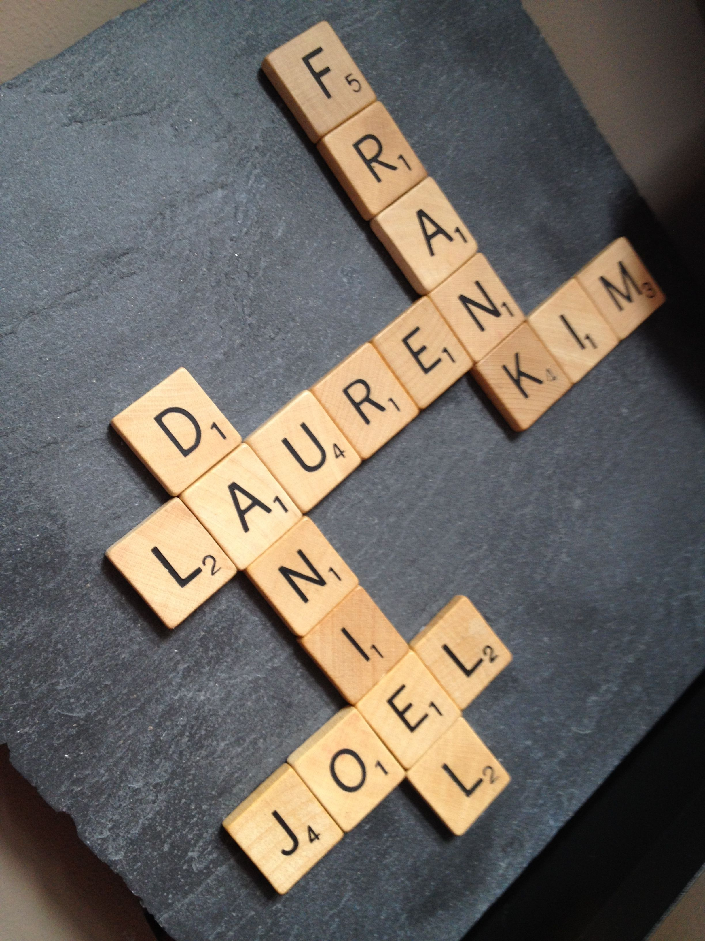 Letters Wordfeud My Family In Scrabble Letters Or Is It Wordfeud Craft