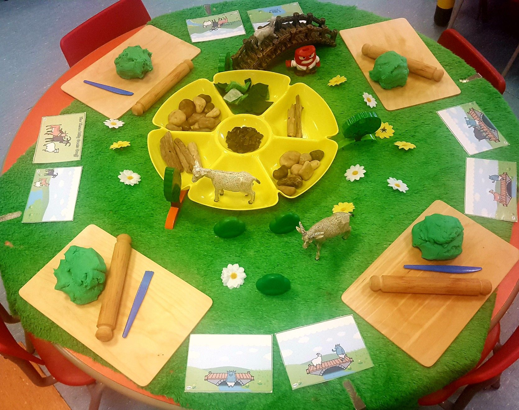 3 Billy Goats Gruff Fairy Tale Inspired With Small World