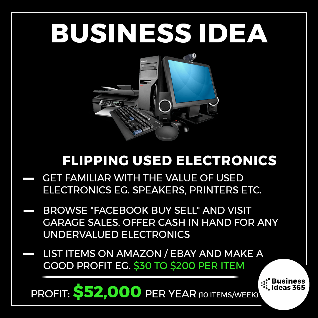 Often People Do T Know The Value Of Their Old Printers Or Speakers And Will Sell The For Way Too Cheap On Facebook With Images Online Business Opportunities Bussines Ideas