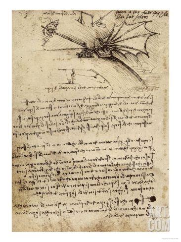 Wing Mechanism, Institut De France, Paris Giclee Print by Leonardo da Vinci at Art.com