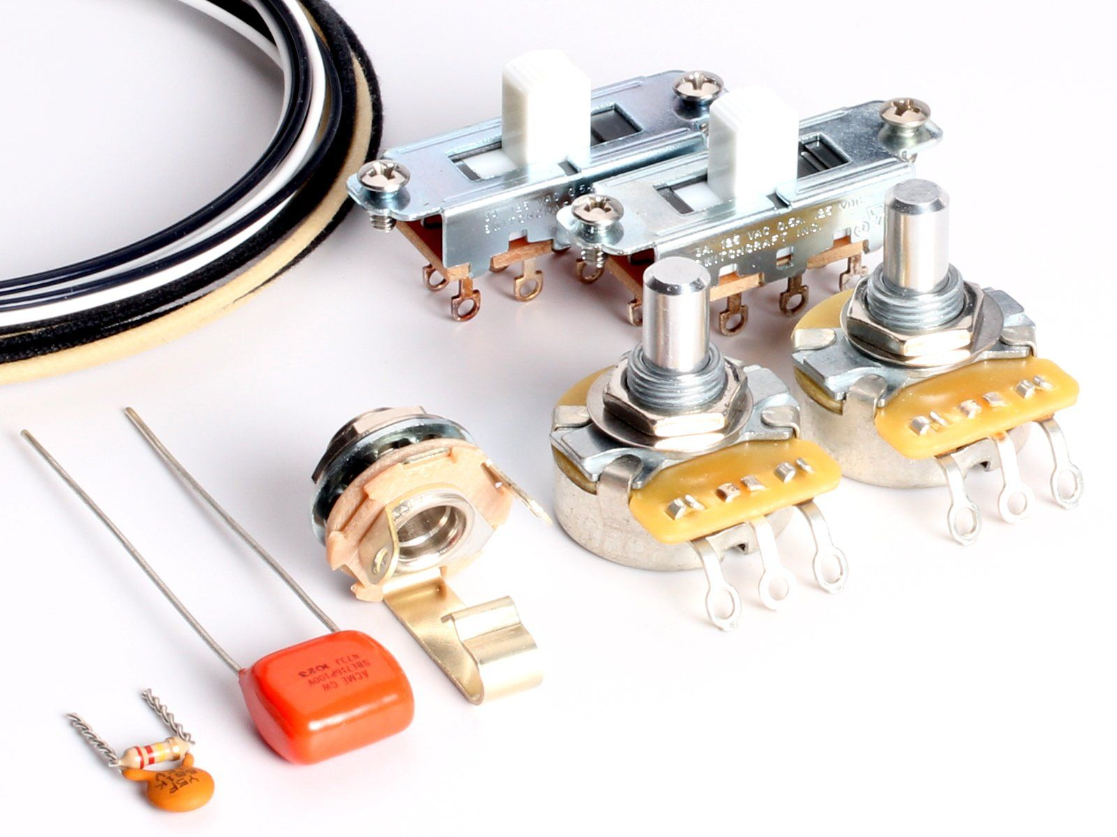 Toneshaper Guitar Wiring Kit For Fender Mustang White Switches Kits Read More At The Image Link