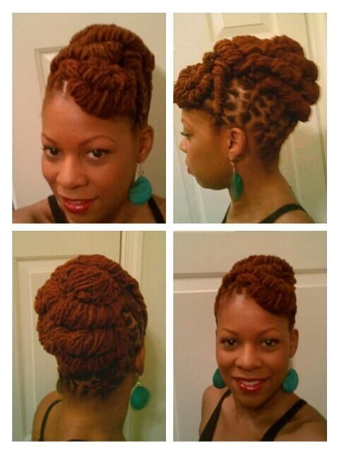 Loc updo and color