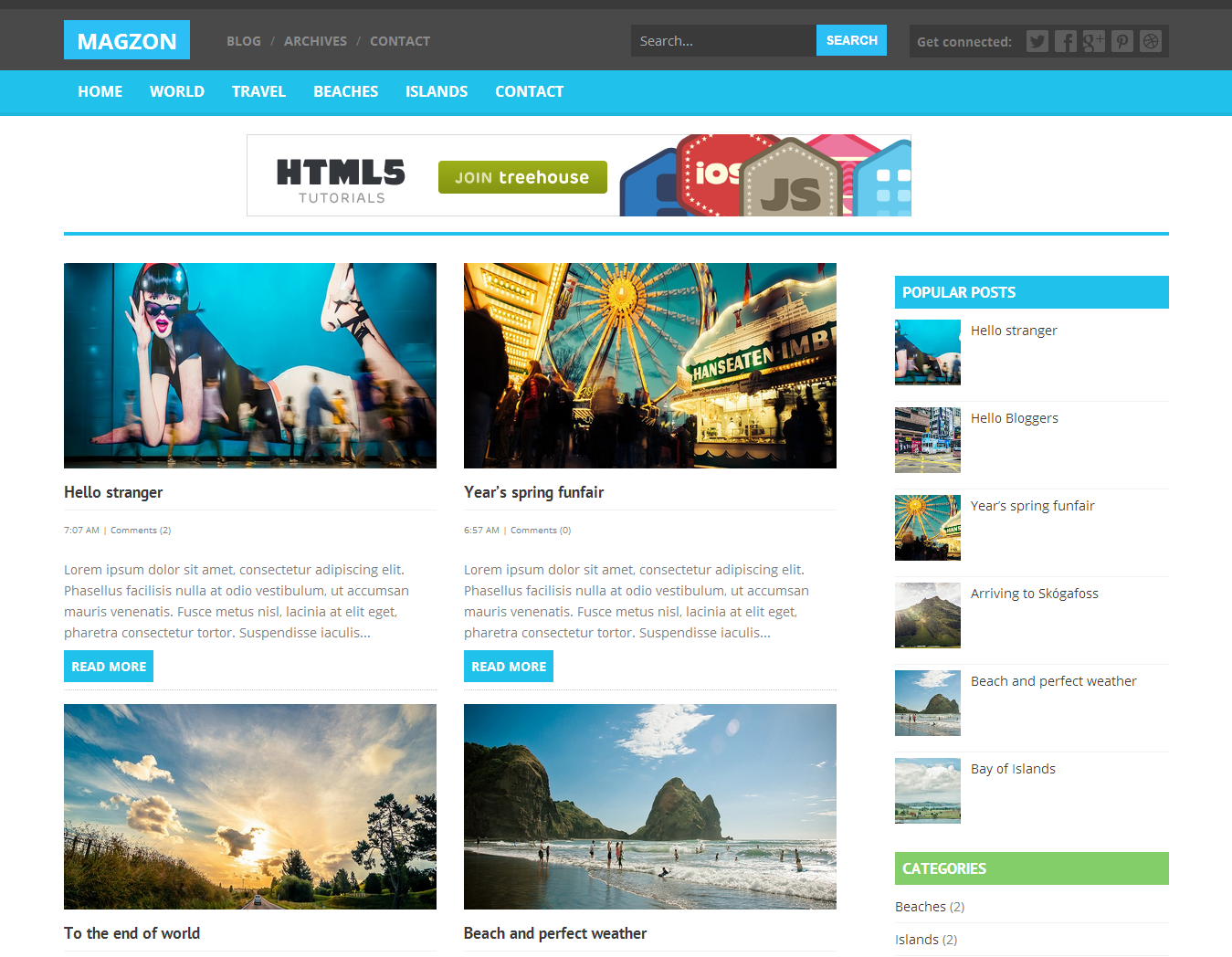 Magzon Blogger Template Blogger Templates Best Free
