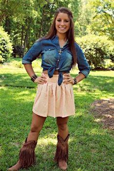 91d3939c33 Always Classy Skirt - Pink $42.99 #SouthernFriedChics   Cowboy boots ...