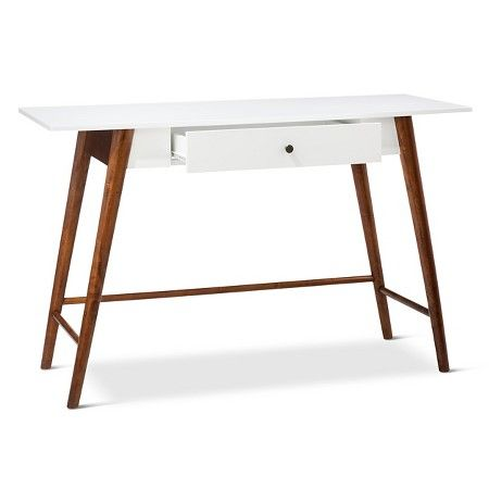 Amherst Wood Writing Desk With Drawers White Project 62 Writing Desk With Drawers Wood Writing Desk Mid Century Modern Desk