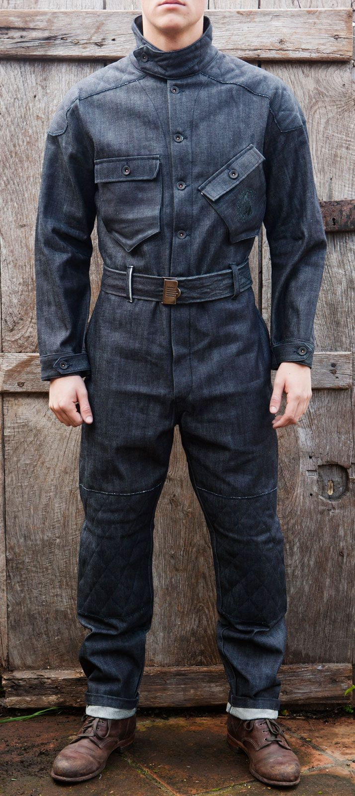 5b10706a6a95 The Bonneville Red Selvedge Denim Coverall by El Solitario MC ...