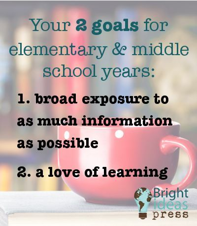 Your two goals for teaching elementary and middle school years. https://www.brightideaspress.com/product-category/illuminations/?ref=40