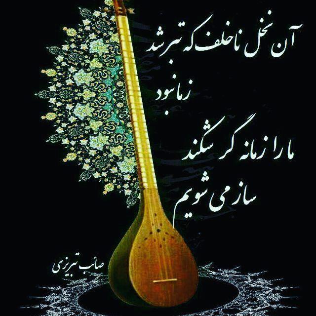 آن نخل ناخلف که تبر شد ز ما نبود ما را زمانه گر شکند ساز می شویم صائب تبریزی Persian Quotes Persian Art Painting Persian Culture