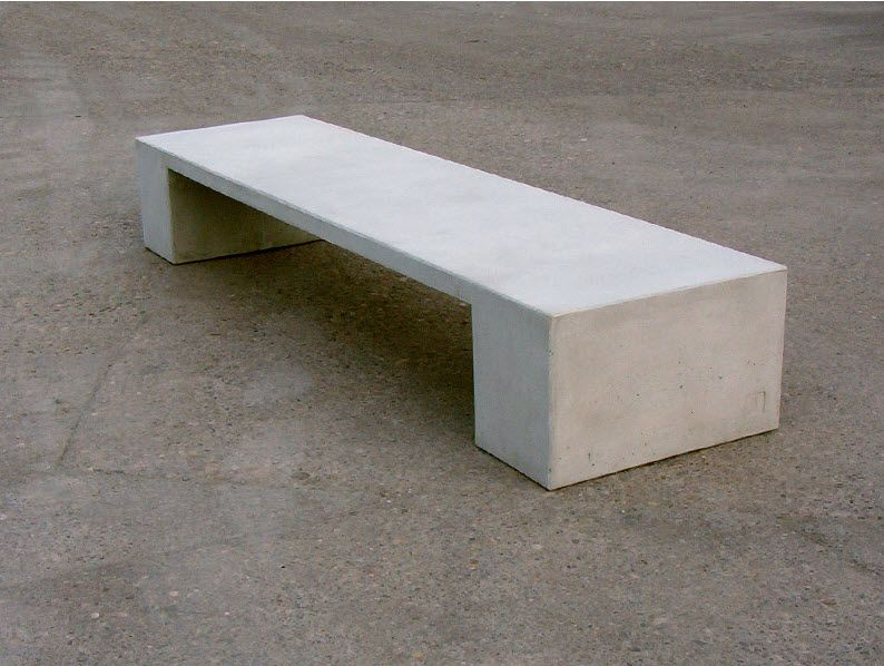 pinterest benches. contemporary public bench in concret  Current Furniture Design
