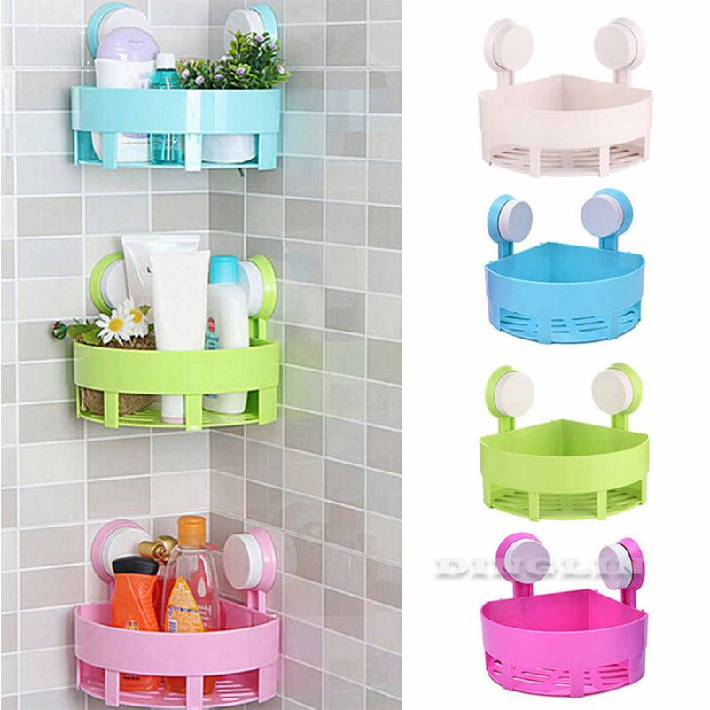 Suction Cup Wall Hanging Storage Rack Home Organizer Sundries Shower Basket New