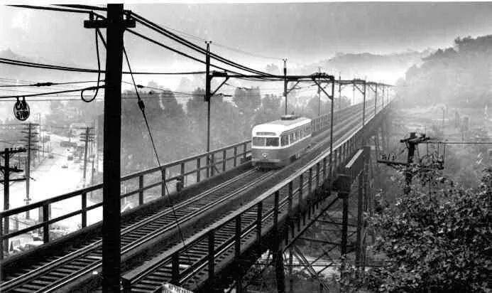 Pittsburgh Trolley Mckinley Bridge Palm Garden Tressel Pittsburg Pa Pittsburgh Pennsylvania Allegheny County