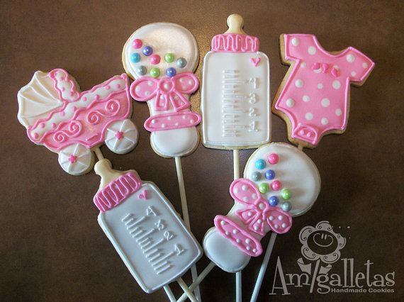 Baby Shower Cookies 1 dozen by Amigalletas on Etsy