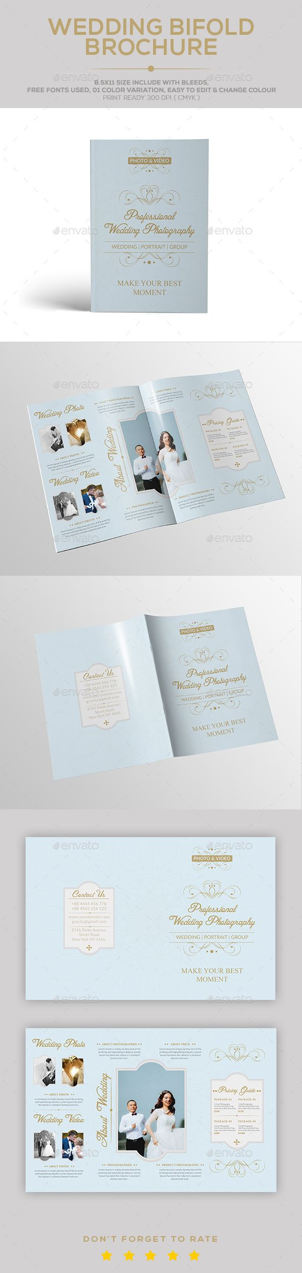 wedding brochure template this is a wedding brochure template this