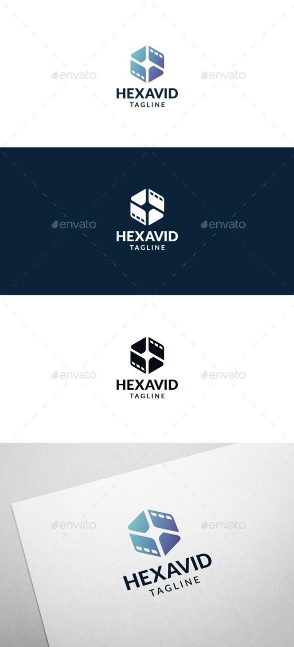 Hexa Video Logo Template   Ai illustrator, Logo templates and Logos