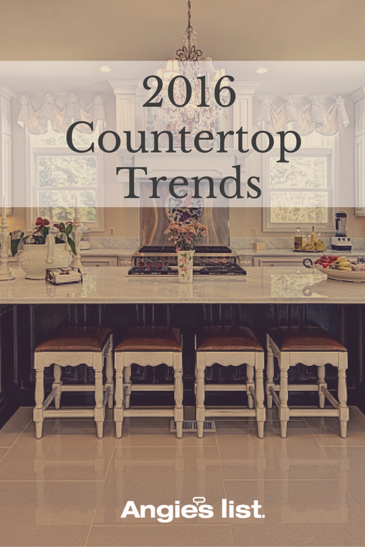 Kitchen Countertop Trends For 2016