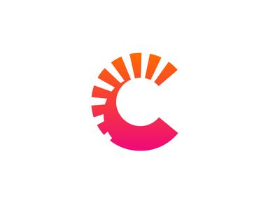 C Layers Solar Logo Sunshine Logo Graphic Design Logo